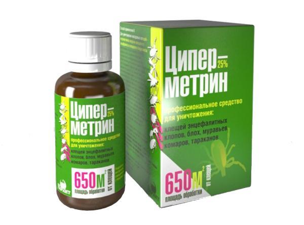 Уничтожитель насекомых Циперметрин 25%