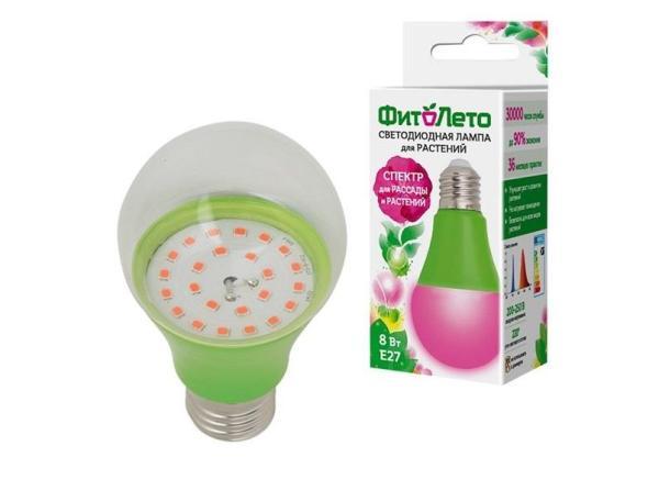 Лампа E27 светодиодная Uniel ФитоЛето LED-A60-8W/SPSB/E27/CL PLP30GR (UL-00004581)