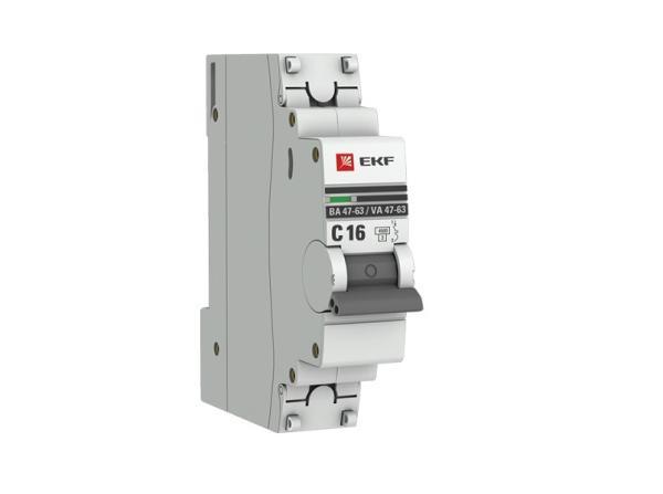 Автоматический выключатель EKF mcb4763-1-16C-pro