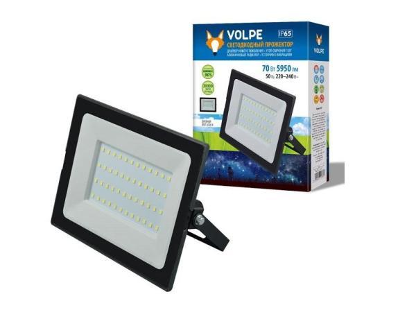 Прожектор светодиодный Volpe ULF-Q513 70W/6500K IP65 220-240В BLACK (UL-00004343)