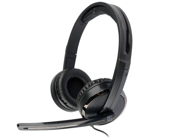 Наушники с микрофоном проводные дуговые закрытые T&D HM510