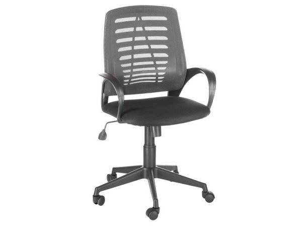 Кресло OLSS Ирис W02-серый/TW-черный