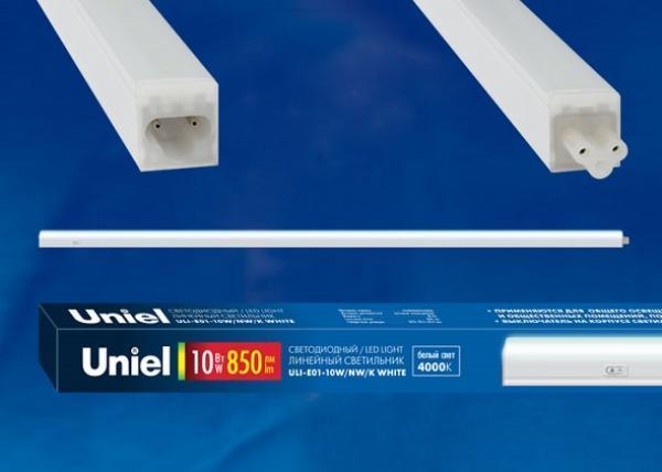 Светильник линейный светодиодный Uniel ULI-E01-10W/NW/K WHITE (UL-00002727)